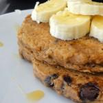 Cinnamon Chocolate Chip Oatmeal Pancakes