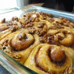 Pumpkin Cinnamon Rolls with Candied Pecans…A New Family Tradition!