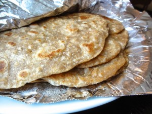 chapati stacked