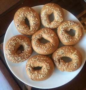 vegan whole wheat bagel recipe above