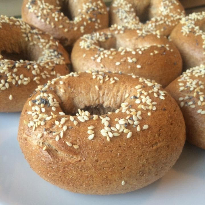 Homemade Whole Wheat Bagel recipe finished
