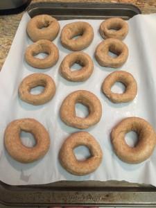 vegan whole wheat bagel recipe shaped