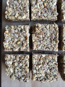 Coconut Oatmeal Bars with Peanut Butter Banana Filling