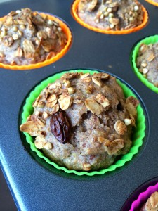 Whole Wheat Banana Granola Muffins