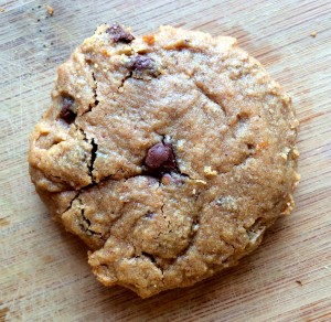One Bowl 5-ingredient peanut butter chocolate chip cookies