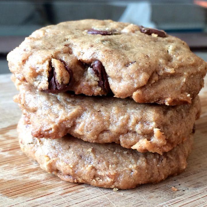 Vegan Gluten Free Peanut Butter Chocolate Chip Cookies
