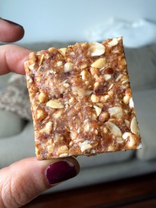 1 Homemade Clif Bar in hand