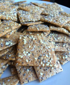 Whole Wheat Sesame Crackers