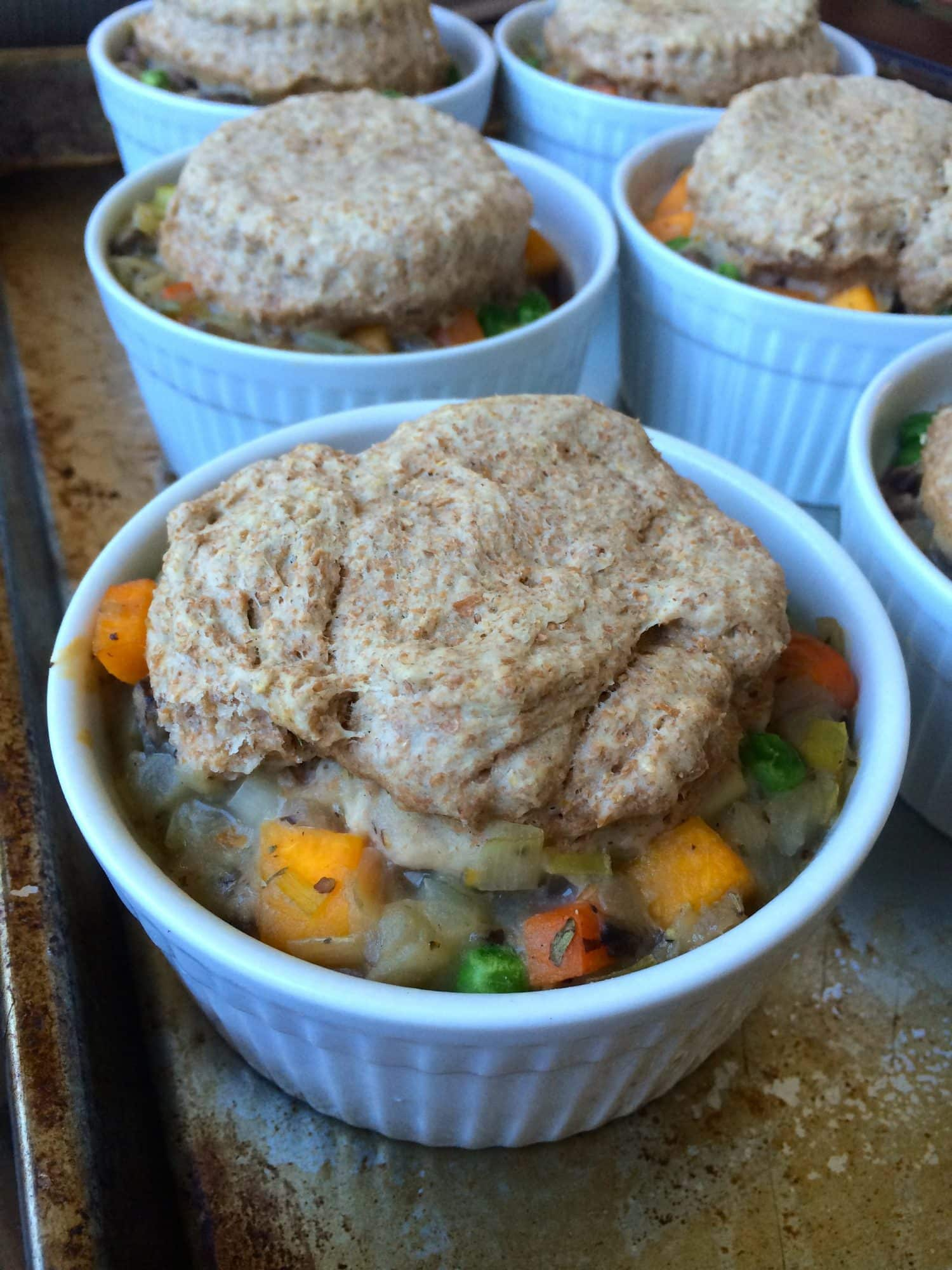 Butternut Squash Pot Pie with Whole Wheat Biscuit Topping