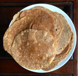 Homemade Whole Wheat Tortillas displayed on a plate