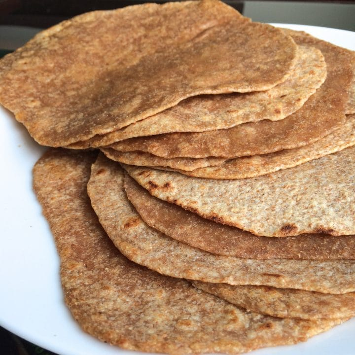 Homemade Whole Wheat Tortillas {Lightened Up!}