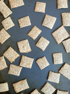 Whole Wheat Oatmeal Crackers