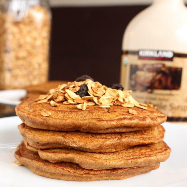 Stack of Vegan Gingerbread Pancakes