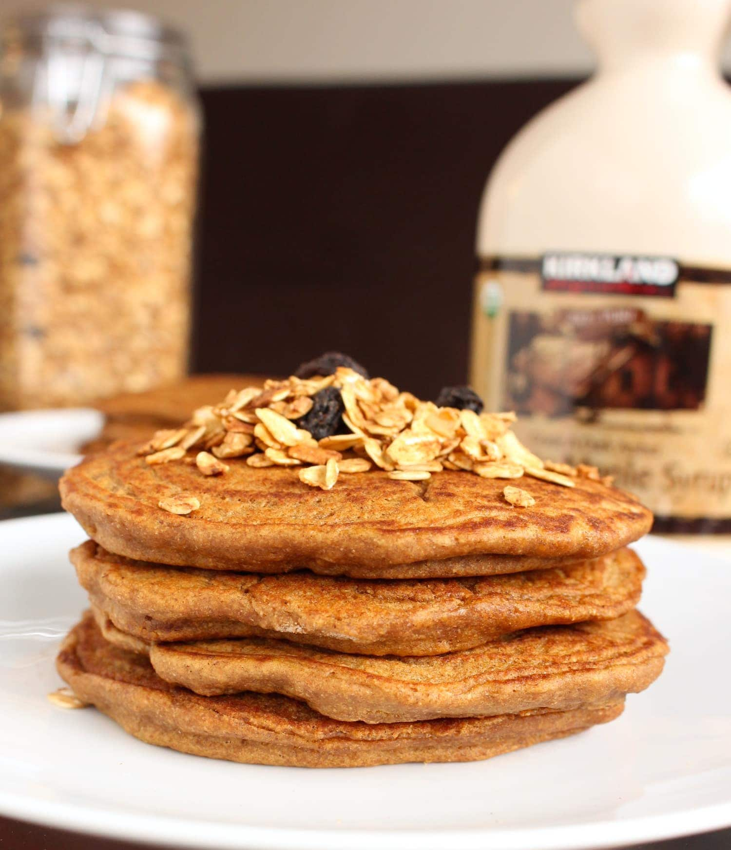Stack of Vegan Gingerbread Pancakes