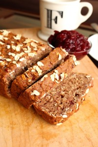 Leftover Cranberry Sauce Oatmeal Bread 45 degree