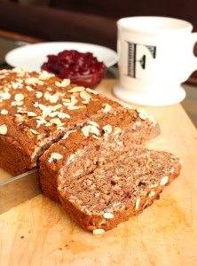 Leftover Cranberry Sauce Oatmeal Bread