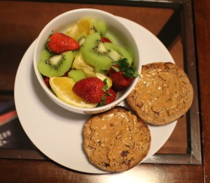 Fruit Salad with Homemade English Muffin