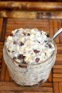 Healthy Cookie Dough Overnight Oats