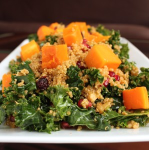 Quinoa and Kale Salad with Roasted Butternut Squash 1
