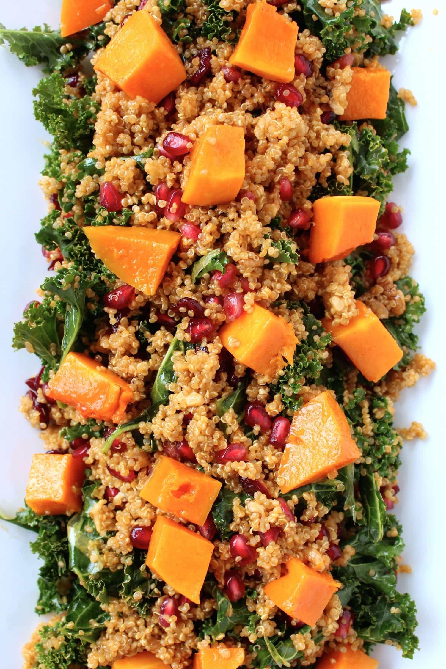 Quinoa, Kale & Roasted Butternut Squash Salad