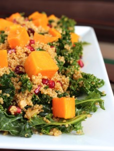 Quinoa and Kale Salad with Roasted Butternut Squash