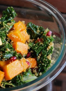 Quinoa and Kale Salad with Roasted Butternut Squash 3
