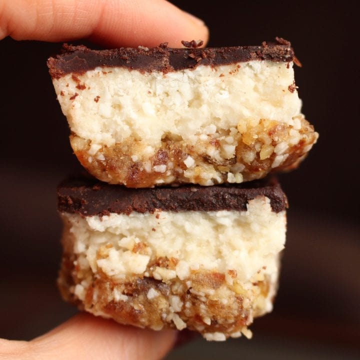 Raw, Vegan Almond Joy Bars