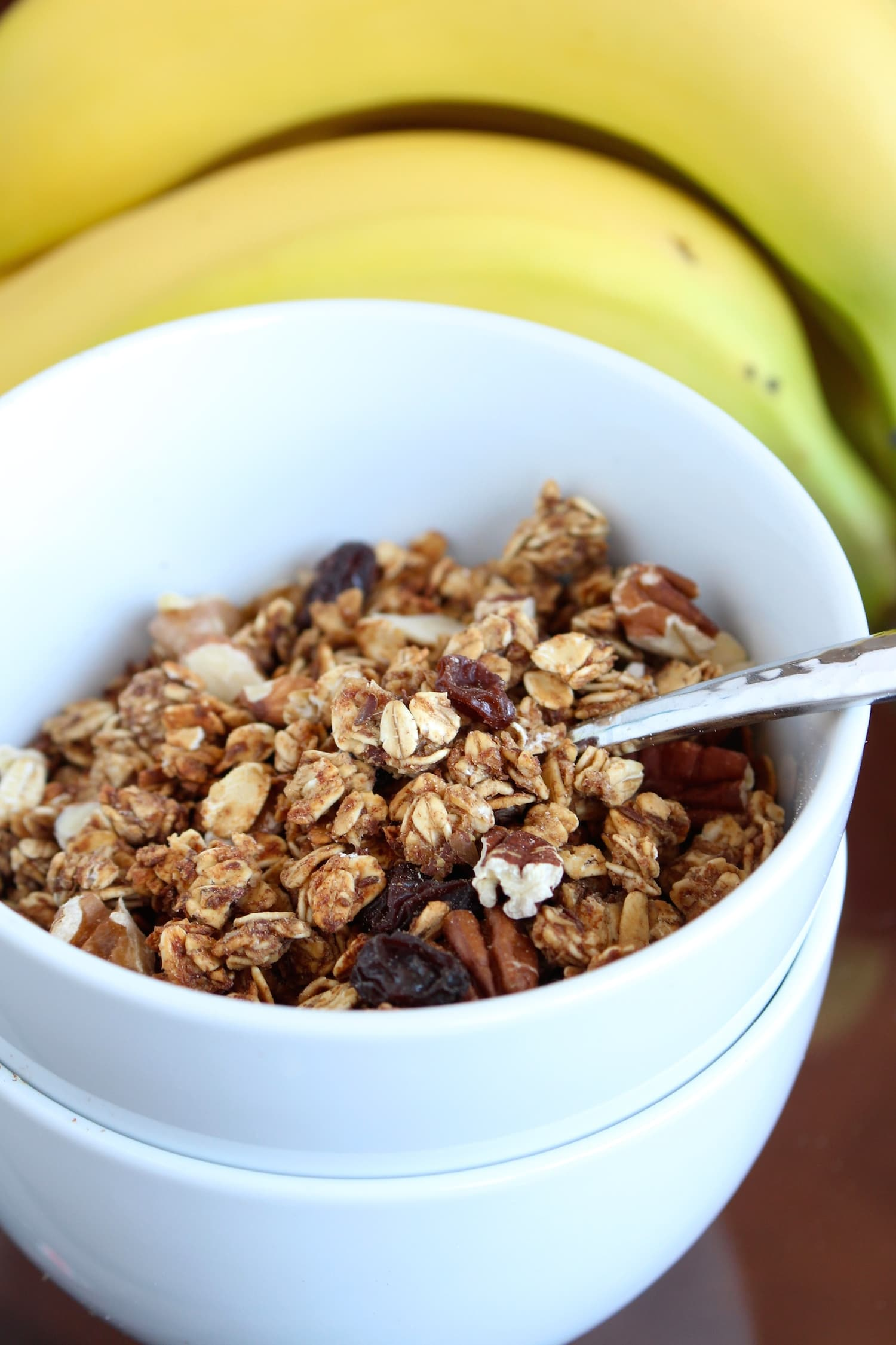 Date Sweetened Nutty Apple Granola 4 | The Conscientious Eater