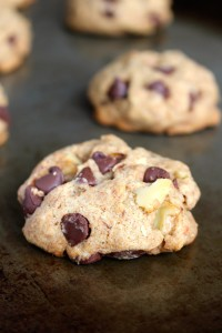 Maple Syrup Whole Wheat Vegan Chocolate Chip Cookies 1