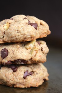 Maple Syrup Whole Wheat Vegan Chocolate Chip Cookies 3