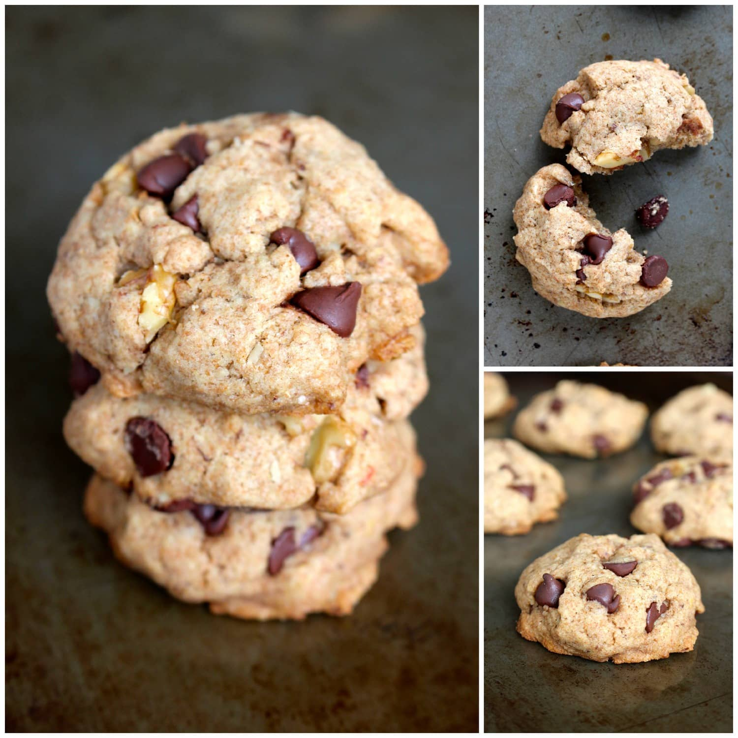 Maple Syrup Whole Wheat Vegan Chocolate Chip Cookies