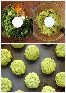 Baked Turmeric Falafel Collage