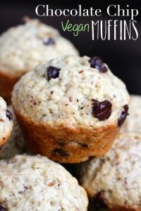Chocolate Chip Vegan Muffins 8