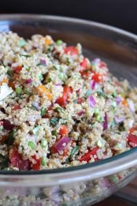 Easy Vegan Mediterranean Salad 2