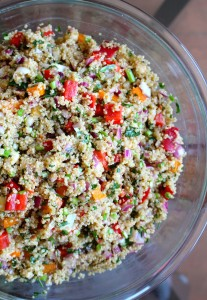 Easy Vegan Mediterranean Salad 3