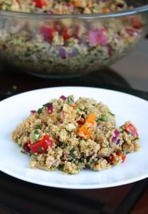 Easy Vegan Mediterranean Salad 4