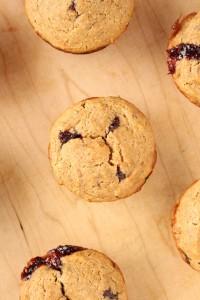 Low-Fat Vegan PB & J Muffins 1
