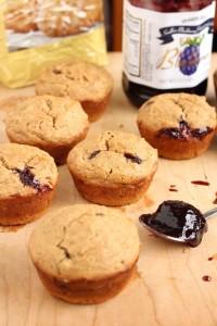 Low-Fat Vegan PB & J Muffins 4