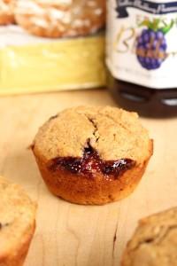 Low-Fat Vegan PB & J Muffins 8