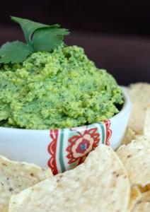 Oil-Free Tahini-Free Cilantro Lime Hummus 4