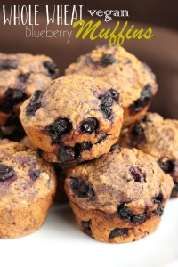 Whole Wheat Vegan Blueberry Muffins 8
