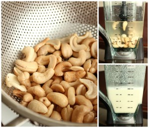 Homemade Cashew Milk collage 3