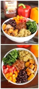 Southwestern Vegan Power Bowl Collage