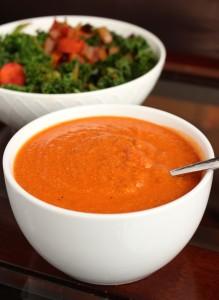 Creamy Vegan Zucchini Tomato Soup