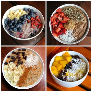 Easy Plant-Based Breakfast Ideas Oatmeal Collage