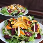 Sauerkraut, Squash, & Beet Salad w/ Tahini Dressing