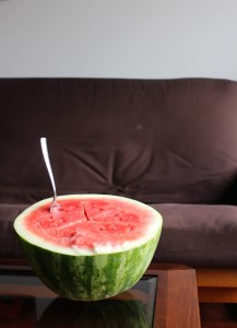 watermelon for easy plant-based breakfast idea