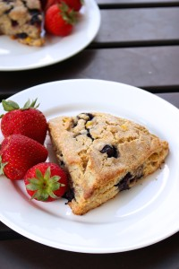 Vegan Blueberry Corn Scones 5