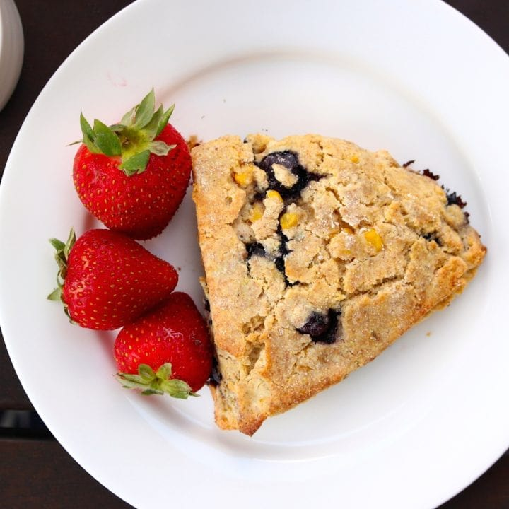 Vegan Blueberry Corn Scones