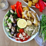 Lemon Cilantro Rice, Spicy Potatoes & Tahini Dressing